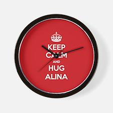 Hug Alina Wall Clock