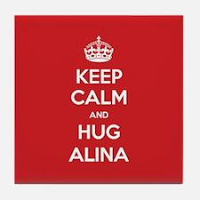 Hug Alina Tile Coaster