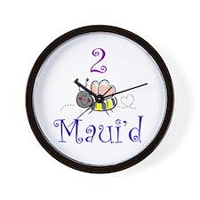 2 Bee Maui'd Wall Clock