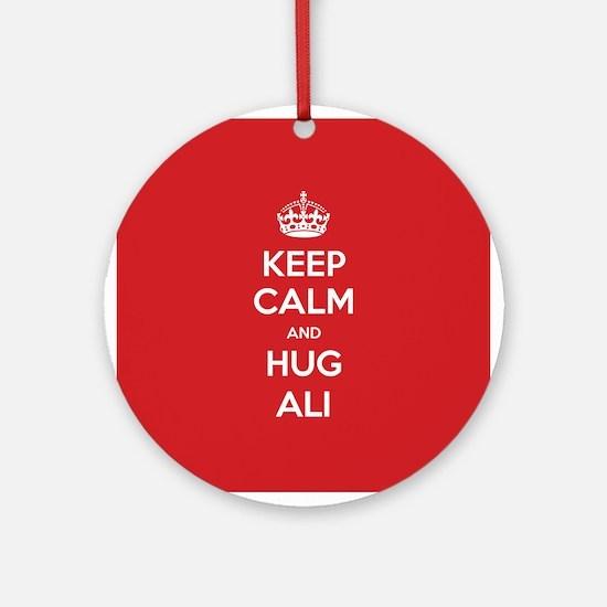 Hug Ali Ornament (Round)