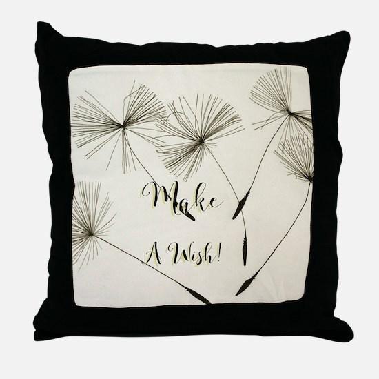 Cute Make a wish Throw Pillow