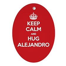 Hug Alejandro Ornament (Oval)