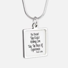 Be Brave Paulo Coelho Quot Silver Square Necklace
