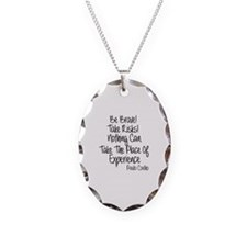 Be Brave Paulo Coelho Quote Necklace