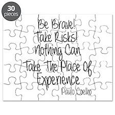 Be Brave Paulo Coelho Quote Puzzle