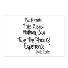Be Brave Paulo Coelho Quo Postcards (Package of 8)