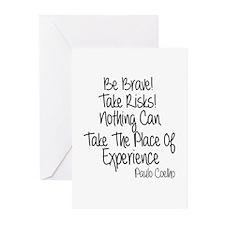 Be Brave Paulo Coelho Qu Greeting Cards (Pk of 20)