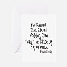 Be Brave Paulo Coelho Qu Greeting Cards (Pk of 20)