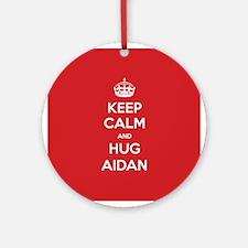 Hug Aidan Ornament (Round)