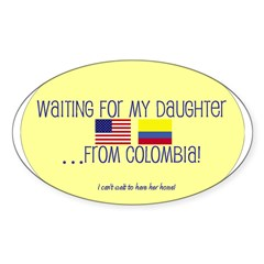Waiting For My Daughter...Fro Oval Decal