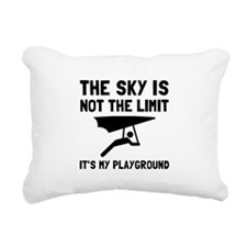 Hang Glide Playground Rectangular Canvas Pillow