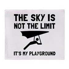 Hang Glide Playground Throw Blanket