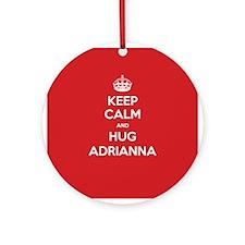Hug Adrianna Ornament (Round)