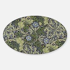 William Morris Seaweed Sticker (Oval)