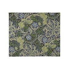 William Morris Seaweed Throw Blanket