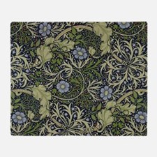 William Morris Seaweed Throw Blanket