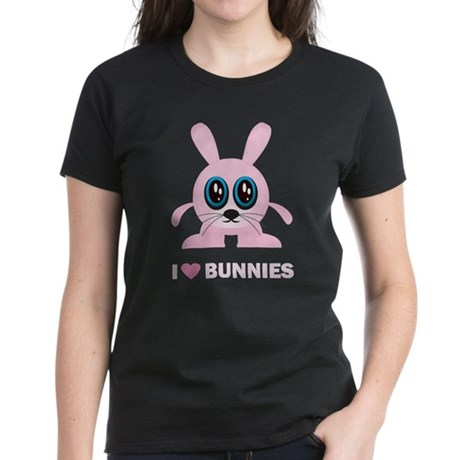 I Love Bunnies Women's Dark T-Shirt