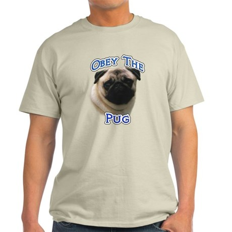 Pug Obey Light T-Shirt