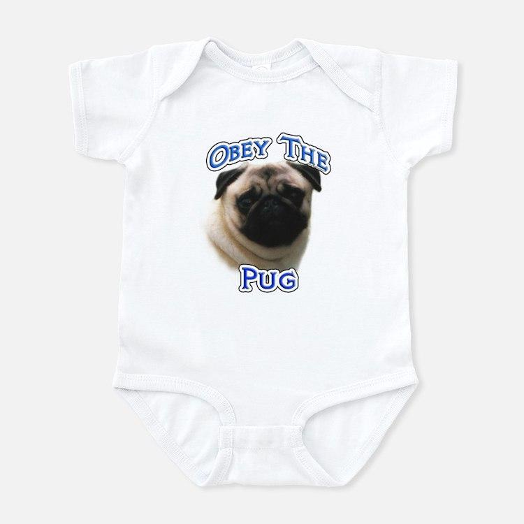 Pug Obey Infant Bodysuit