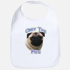 Pug Obey Bib