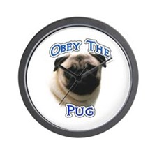 Pug Obey Wall Clock