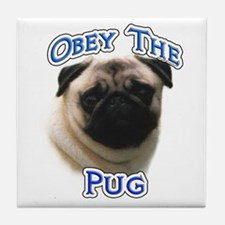 Pug Obey Tile Coaster