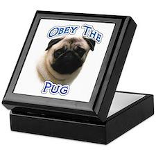 Pug Obey Keepsake Box