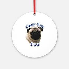 Pug Obey Ornament (Round)