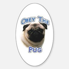 Pug Obey Oval Decal