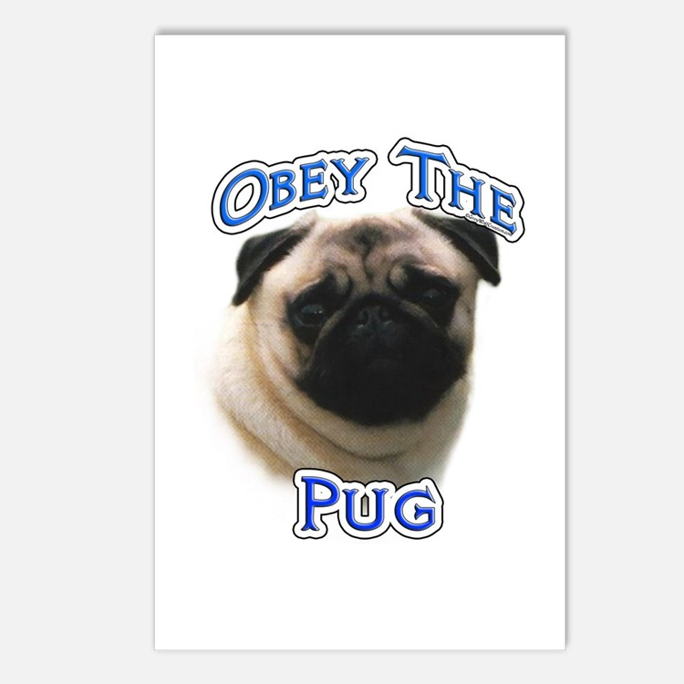 Pug Obey Postcards (Package of 8)