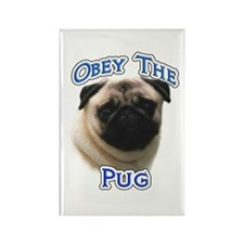 Pug Obey Rectangle Magnet