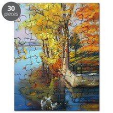 Colorful autumn on the lake Puzzle