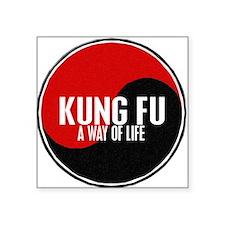KUNG FU Way Of Life Yin Yang Rectangle Sticker