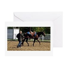 Quarter Horse Early Morning Warm Up Greeting Cards