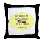 Waiting For My Granddaughter. Throw Pillow