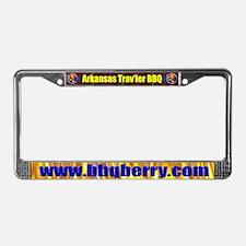 Arkansas Trav'ler BBQ License Plate Frame