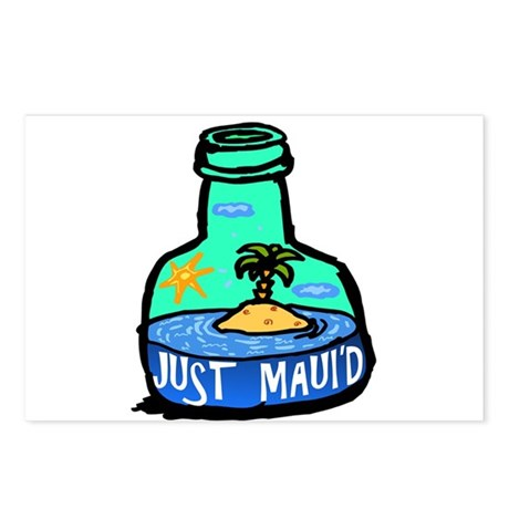 Just Maui'd Bottle Postcards (Package of 8)