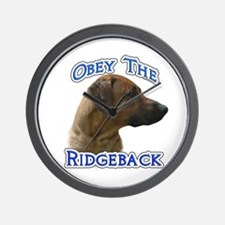 Ridgeback Obey Wall Clock
