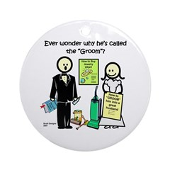 The Groom Ornament (Round)