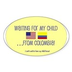 Waiting For My Child...From C Oval Sticker