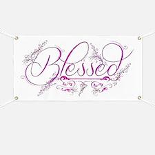 Blessed fuchsia flourish Banner