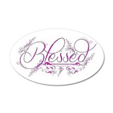 Blessed fuchsia flourish Wall Decal