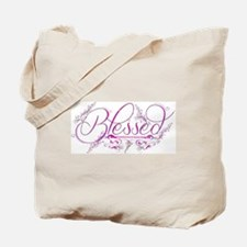 Blessed fuchsia flourish Tote Bag