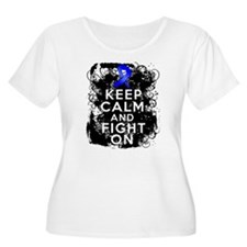 Keep Calm Fight Dysautonomia Plus Size T-Shirt