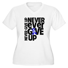 Never Give Up Dysautonomia Plus Size T-Shirt
