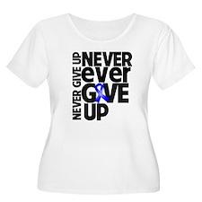 Never Give Up Dysautonomia Plus Size T-Shirt