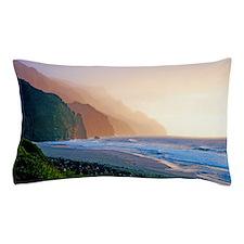 Sunset Kalalau Beach Kauai Hawaii Pillow Case