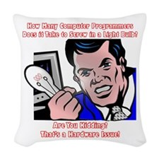How Many Programmers Woven Throw Pillow