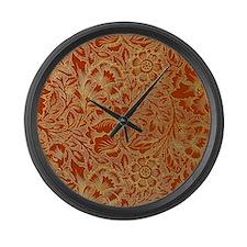 William Morris Poppy Design Large Wall Clock