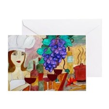 Pretty Chef Art Greeting Card